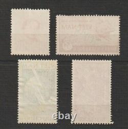 1952 South Vietnam Very Rare Specimen Stamps Scott # 14,17,18 & C9 MNH