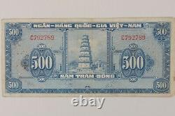 1955 South Vietnam 500 Dong // Thien Mu Tower (Pagoda of the Celestial Lady)