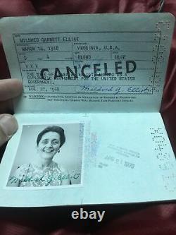 1968 Vietnam War Period South East Asia U. S Diplomatic Passport Female X96