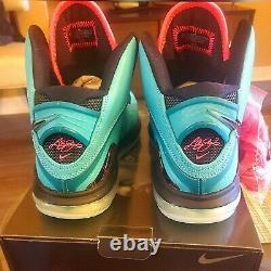 2021 Nike Lebron 8 VIII QS retro South Beach Pre-Heat US size 10