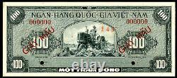 21092 VIETNAM SOUTH SPECIMEN 100 DONG 1955 PICK# 8s AUNC