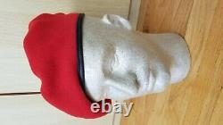 ARVN SOUTH VIETNAM CHERRY RED AIRBORNE BERET LOCAL MADE with TAGS APPROX SZ58