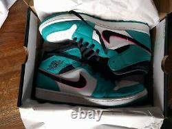 Air Jordan 1 Mens South Beach Mid Size 11.5 With Box Excellent Condition