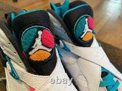 Air Jordan 8 Retro South Beach 2018 Size 11 Nds Great Condition 305381 113