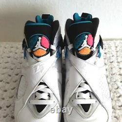 Air Jordan 8 Retro South Beach Basketball Shoe Size 8.5 White 305381-113