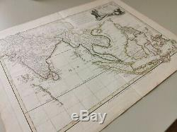 Authentic Antique Map, 1700s INDIA AND SOUTH EAST ASIA Lattre / Bonne