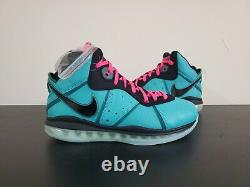 DS Nike Lebron 8 VIII QS South Beach 2021 Size 9.5 Mens IN HAND