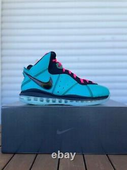 DS Nike Lebron 8 VIII South Beach US 13 CZ0328-400 Pre-Heat 2021 James Miami PE