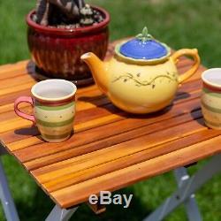 DTY Outdoor Living South Park 3-Piece Acacia Outdoor Patio Cafe Bistro Set