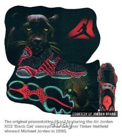 Jordan Retro Black Cat Tinker AJ13 Black Turbo Green AR0772-003 South Beach Xiii