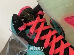 Lebron 8 VIII South Beach 2021 Sz 9 New In Hand Nba IX Teal Pink Qs Nike Miami