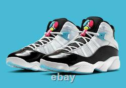 Men's Nike Air Jordan 6 Rings South Beach Basketball Shoes CK0017-100 Size 13