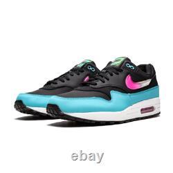 Mens Nike Air Max 1 South Beach CI2450-001 Black/Laser Fuchsia-Blue Fury