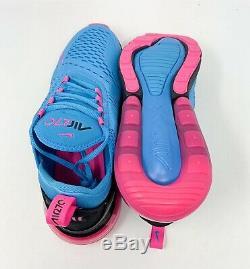 New Nike Air Max 270 South Beach Blue Fury/Laser Fuchsia BV6078-400 Size 10 Men