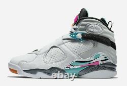Nike Air Jordan 8 Retro South Beach Basketball Shoe Size 11.5 White 305381-113