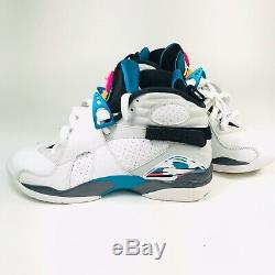 Nike Air Jordan 8 Retro South Beach Turbo Green Mens Shoes 7.5 305381-113 No Box