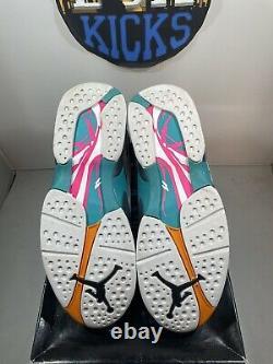 Nike Air Jordan 8 Retro South Beach White Turbo Green 305381-113 size 11 VNDS
