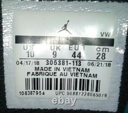 Nike Air Jordan 8 VIII Retro South Beach, 305381-113, White Green, Size 10