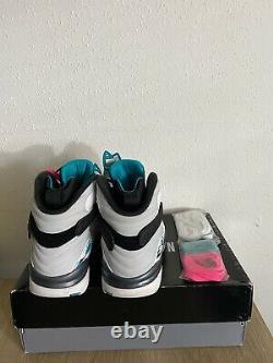 Nike Air Jordan Retro VIII 8 South Beach White Turbo Green Men SZ 8 305381-113