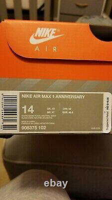 Nike Air Max 1 Anniversary Royal Size 14 15 Red Sb Dunk Lebron South Beach
