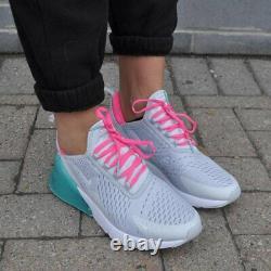 Nike Air Max 270 AH6789-065 Grey / Teal / Pink aka South Beach Women Sz 10