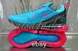 Nike Air Max 270 (GS) MIAMI Blue Fury South Beach BV6376-400 Size 5Y Womens 6.5