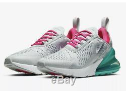 Nike Air Max 270 Grey Pink White South Beach 2019 AH6789-065 Wmns Size 11 M 9.5