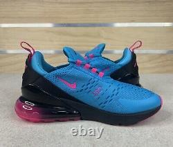 Nike Air Max 270 MIAMI Blue Fury South Beach Size 7Y (Womens 8.5) BV6376-400