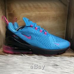 Nike Air Max 270 Mens Size 10 Shoes BV6078 400 South Beach Fuschia Miami