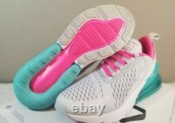 Nike Air Max 270 Running Shoes White South Beach AH6789-065 Women's Size 8.5