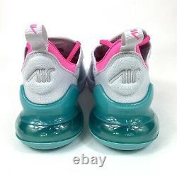 Nike Air Max 270 Running Shoes Womens Size 9 White South Beach AH6789-065