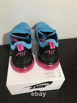 Nike Air Max 270 SOUTH BEACH Mens Size 12 Blue Fury/Fuchsia Bv6078 400