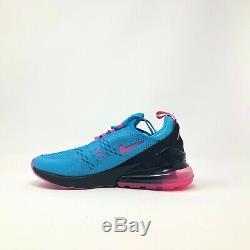 Nike Air Max 270 South Beach Blue Fuchsia Black Shoes BV6078-400 Mens Multi Sz