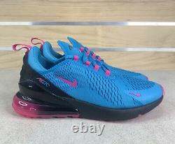 Nike Air Max 270 South Beach Blue Fury Laser Fuchsia Sz 10 Shoes BV6078-400