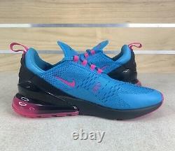 Nike Air Max 270 South Beach Blue Fury Laser Fuchsia Sz 11.5 Shoes BV6078-400