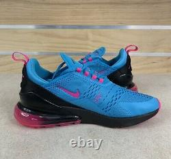 Nike Air Max 270 South Beach Blue Fury Laser Fuchsia Sz 11 Shoes BV6078-400