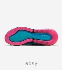 Nike Air Max 270 South Beach Blue Fury Laser Fuchsia Sz 14 Shoes BV6078-400