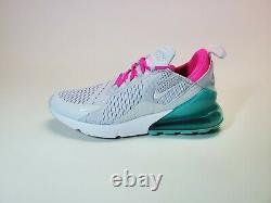 Nike Air Max 270 South Beach Gray Pink AH6789-06 Running Shoes Womens Size 9.5
