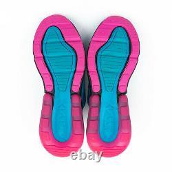 Nike Air Max 270 South Beach Men's Size 11 Blue Fuchsia Running Shoes BV6078-400
