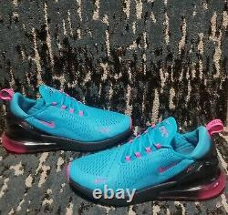 Nike Air Max 270 South Beach Men's Size 12 Blue Fuchsia Running Shoes BV6078-400