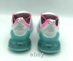 Nike Air Max 270 South Beach Platinum Gray Pink Teal AH6789-065 Womens Size 7