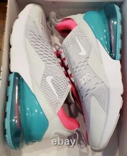 Nike Air Max 270 South Beach Platinum White Pink AH6789-065 Women's Size 7.5