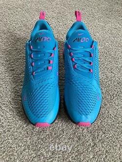 Nike Air Max 270 South Beach Shoes Blue Fury/Fuchsia BV6078 400 Mens Size 15