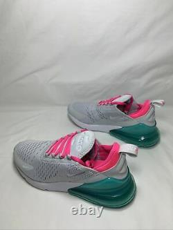 Nike Air Max 270 South Beach Women's Size 10 PR PLTNM/WHT-PNK BLST AH6789 065