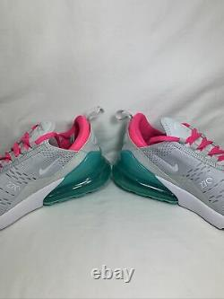 Nike Air Max 270 South Beach Women's Size 7.5 PR PLTNM/WHT-PNK BLST AH6789 065