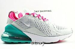 Nike Air Max 270 (Womens Size 9.5) Shoes AH6789 065 South Beach Platinum White