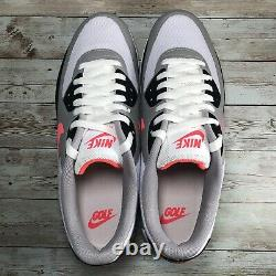 Nike Air Max 90 G Golf Shoes White Hot Punch South Beach CU9978-133 Mens Sz 10