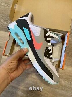 Nike Air Max 90 G'South Beach' Hot Punch White Golf Shoes CU9978-133 Men's 13