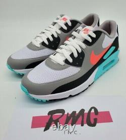 Nike Air Max 90 G South Beach Vice Hot Punch White Golf Shoes CU9978-133 Sz 13