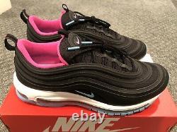 Nike Air Max 97 Premium Sz 10.5 Miami Vice South Beach Black/Blue Gale